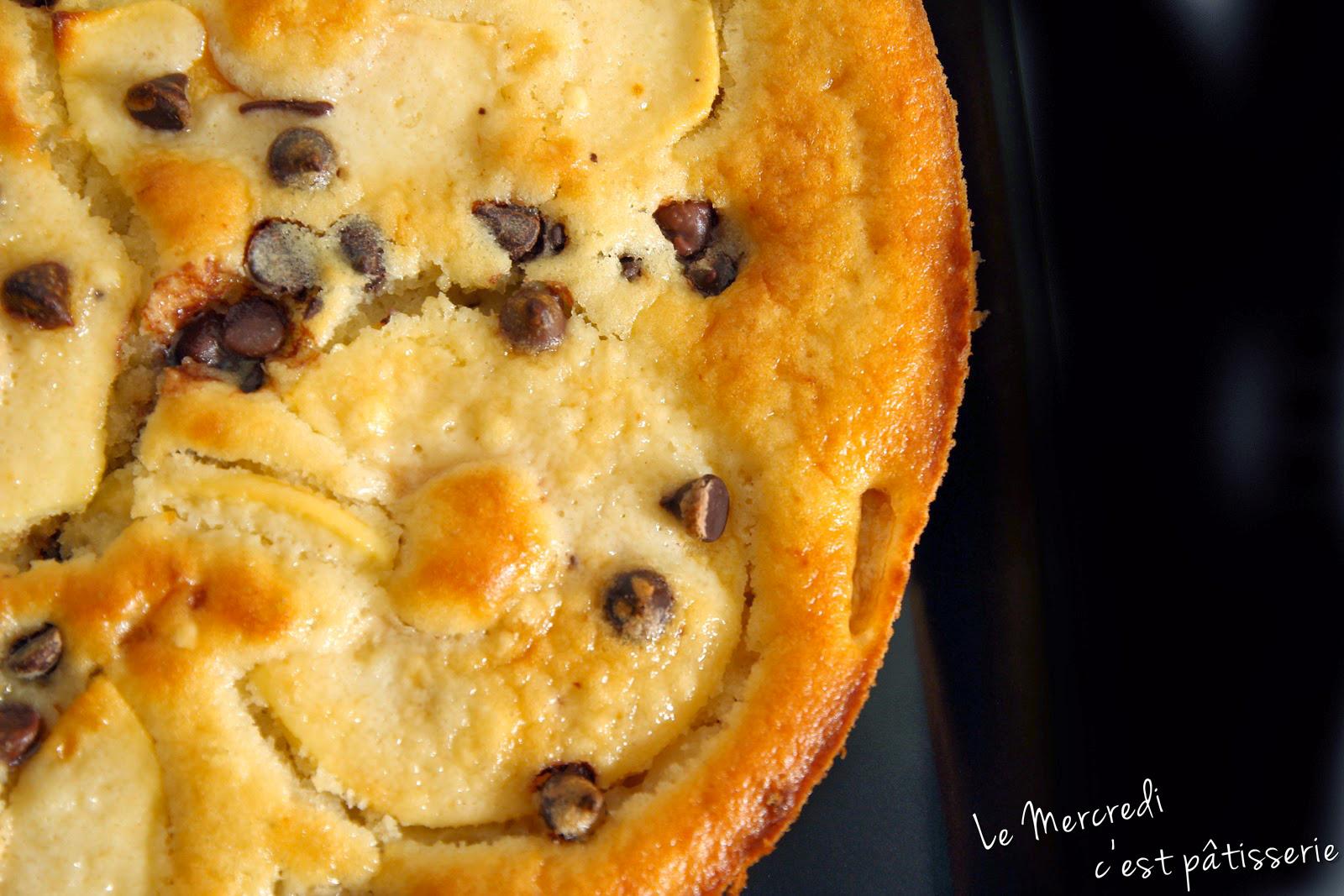 Gâteau moelleux pommes - bananes