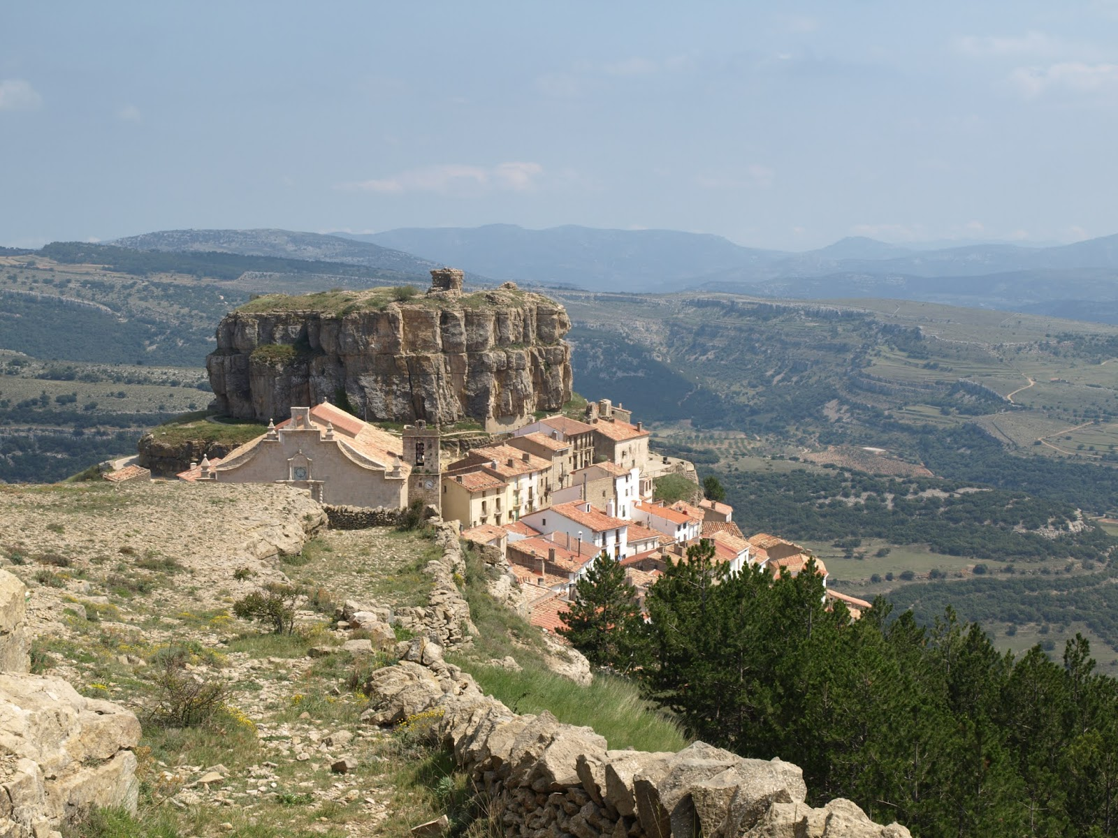 View of village of Ares del Maestre, Spain