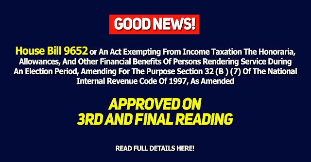 House Bill 9652 Approved on Third and Final reading at the house of the Representatives