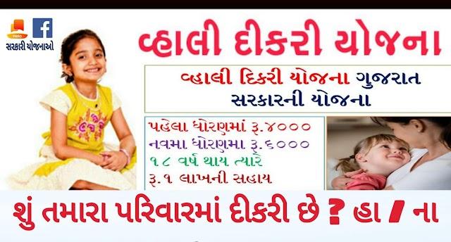 Wahali Dikari Scheme 2020 Gujarat