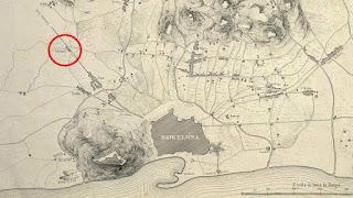 Collblanc en un plano de Barcelona (1843)