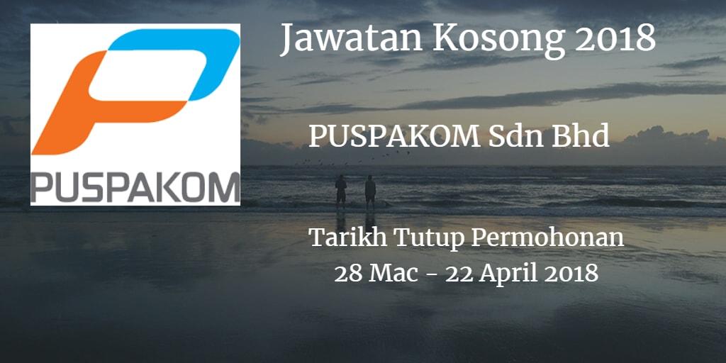 Jawatan Kosong PUSPAKOM Sdn Bhd 28 Mac- 22 April 2018