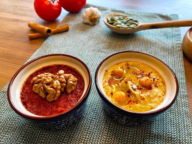 Hummus Dip & Mahammara Dip