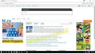 Mengatasi Google Chrome dan Firefox Selalu Tampil  Website Hi.ru