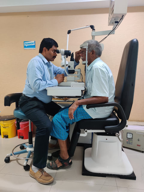MaxiVision organized health camp today to mark World Senior Citizens day