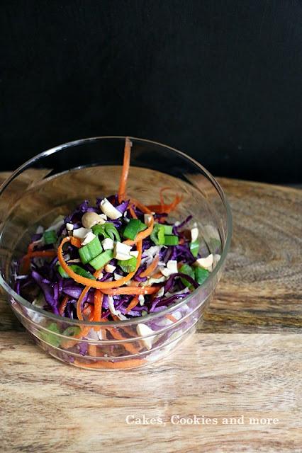 Bunter Wintersalat mit Kohl - Salat mit Kabis, Rotkabis und Rüebli
