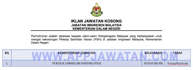 Jabatan Imigresen Malaysia.