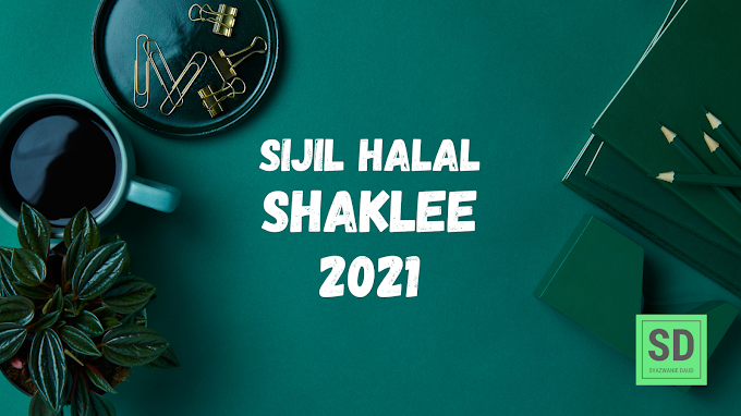 Sijil Halal Shaklee 2021 | Syazwanie Daud