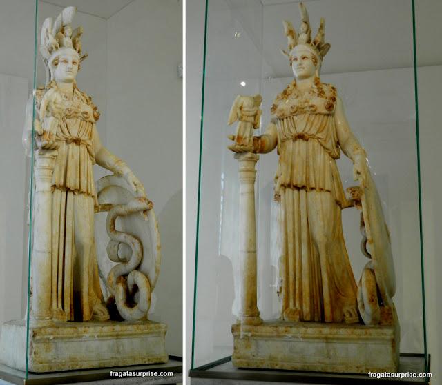 Estátua de Atena Parthenos no Museu Museu Nacional de Arqueologia da Grécia