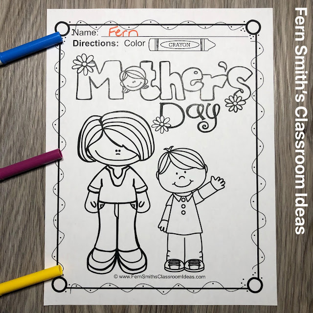 Click Here For These Mother's Day Coloring Pages
