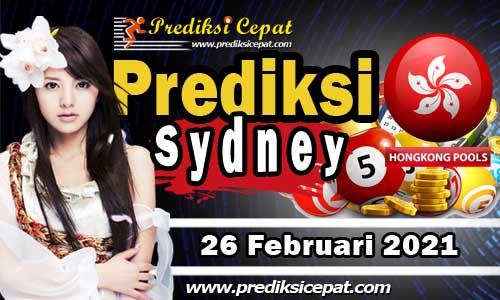 Prediksi Togel Sydney 26 Februari 2021