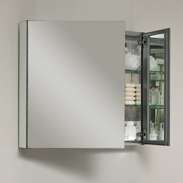 Bathroom mirror medicine cabinet 2
