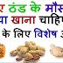 ठंड में जरूर खाएं ये चीजें, इनसे मिलती है शरीर को गर्मी | What to Eat In Winters For Good Health - Baba Ramdev Tips