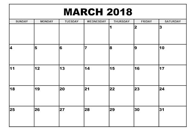 Download March 2018 Calendar, March 2018 Calendar Printable, March 2018 Calendar Template, March 2018 Printable Calendar, March 2018 Calendar PDF, March 2018 Blank Calendar