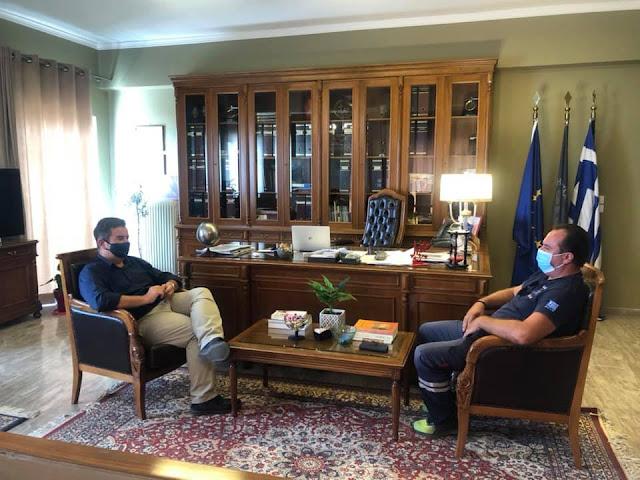 Συνάντηση Μαλτέζου  με τον υπεύθυνο του ΕΚΑΒ Αργολίδας