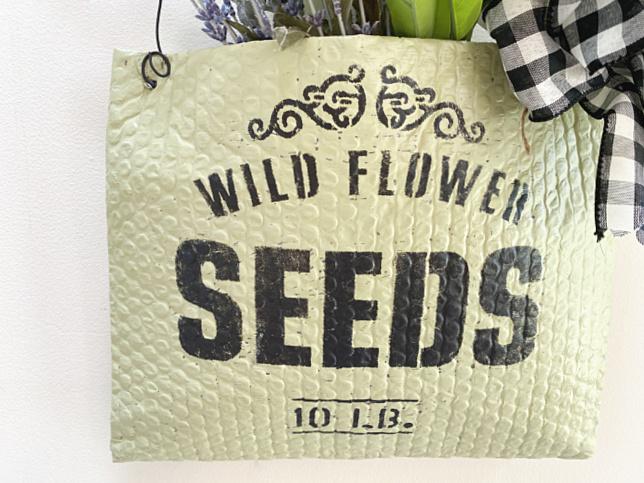 Wild flower seed bag