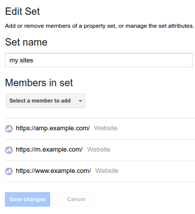 Tie your sites together with property sets in Search Console