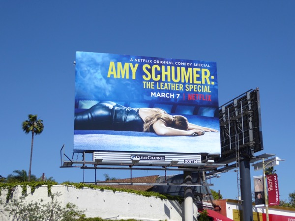 Amy Schumer Leather Special standup billboard