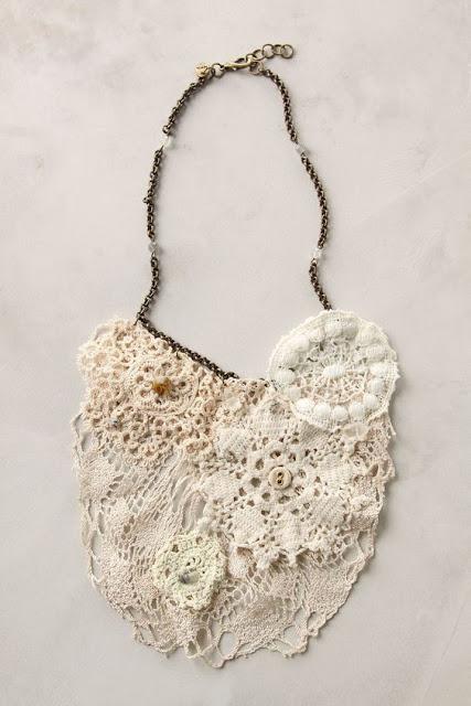 Doily & Lace Necklaces Inspiration