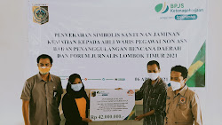 Ahli Waris Almarhum Bambang Budianto Terima Santunan BPJamsostek