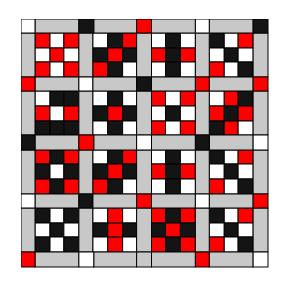 Nine patch quilt blocks