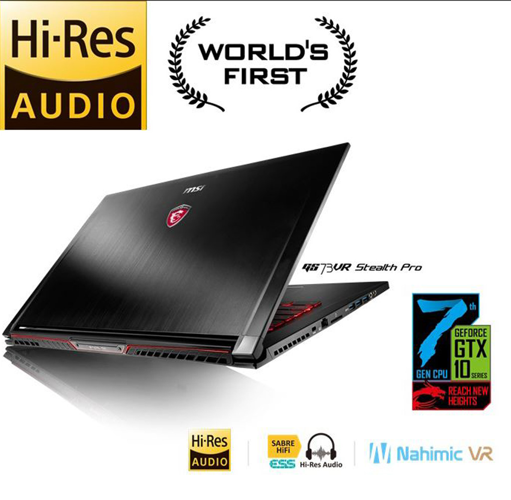 MSI high res audio on GT73VR series, GS73VR series, GS63VR series and GS43VR series