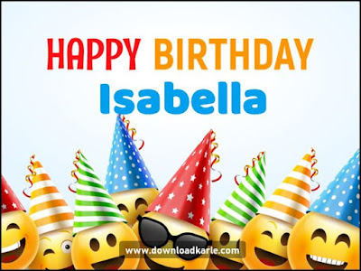 happy birthday isabella cake images