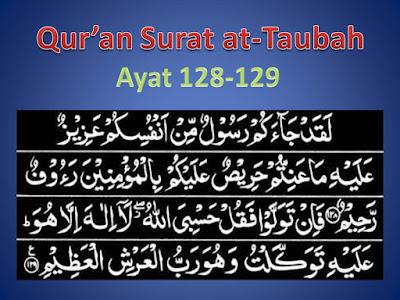Qur'an Surat at-Taubah Ayat 128-129