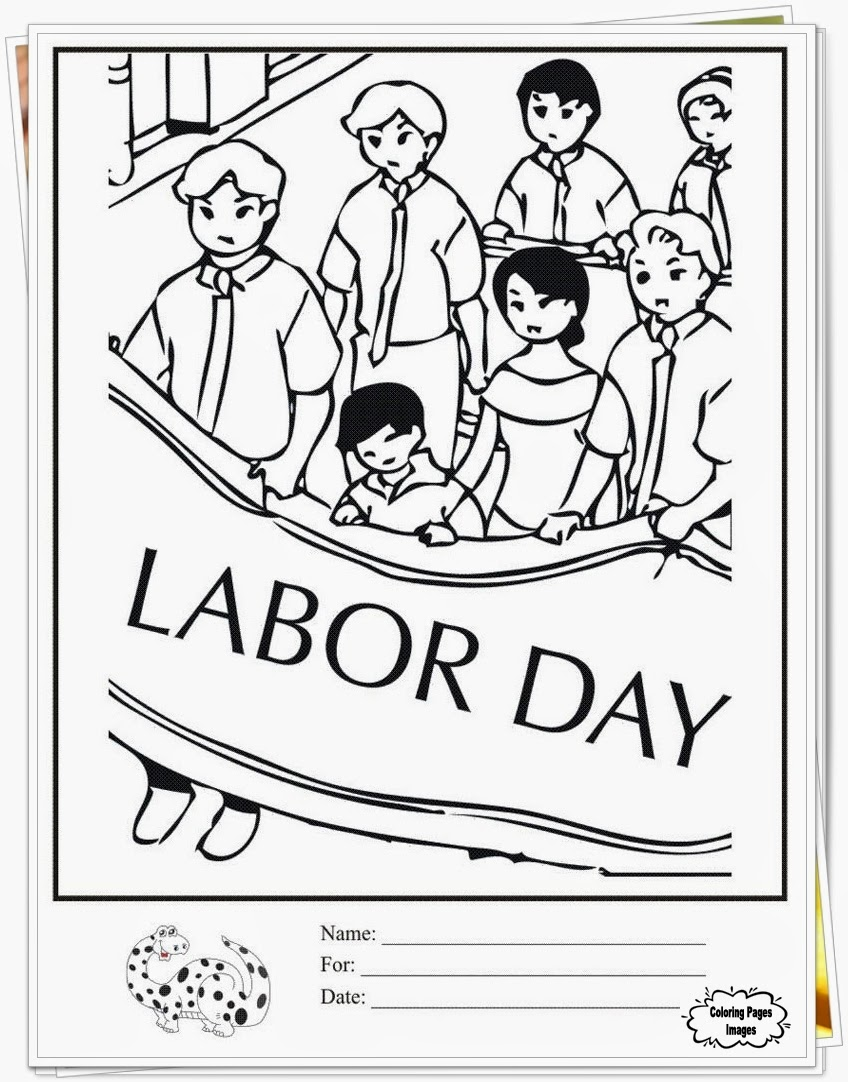 Downloads Happy Labor Day Coloring Pages