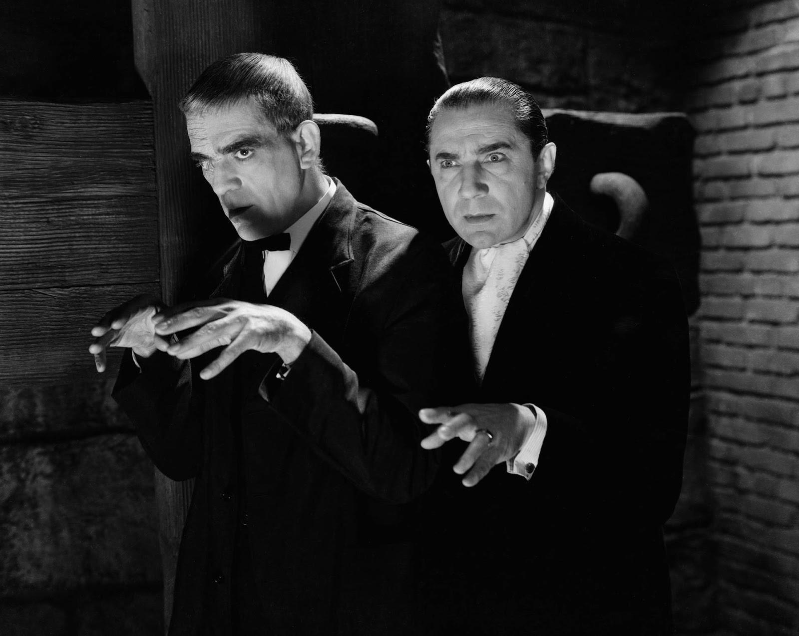 Bela Lugosi and Boris Karloff in the 1930's. | Rebrn.com  |Boris Karloff Bela Lugosi