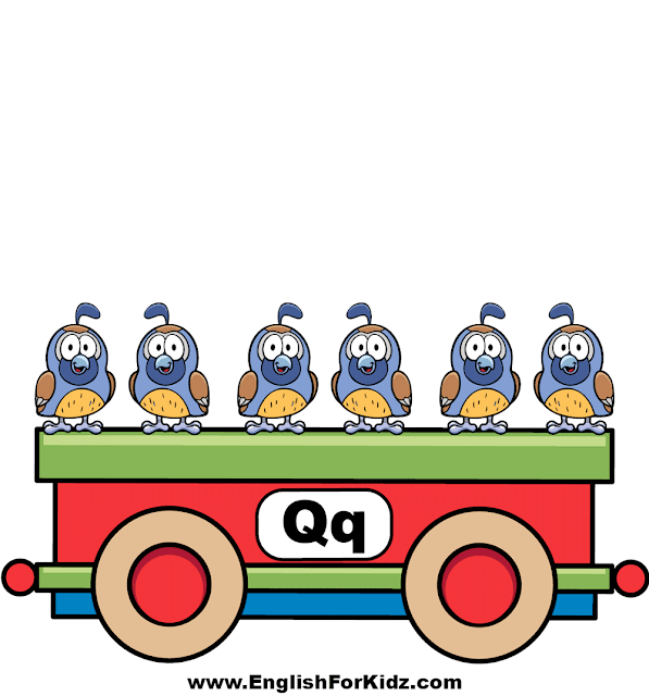 Letter Q is for quail - ABC train classroom wall decoration