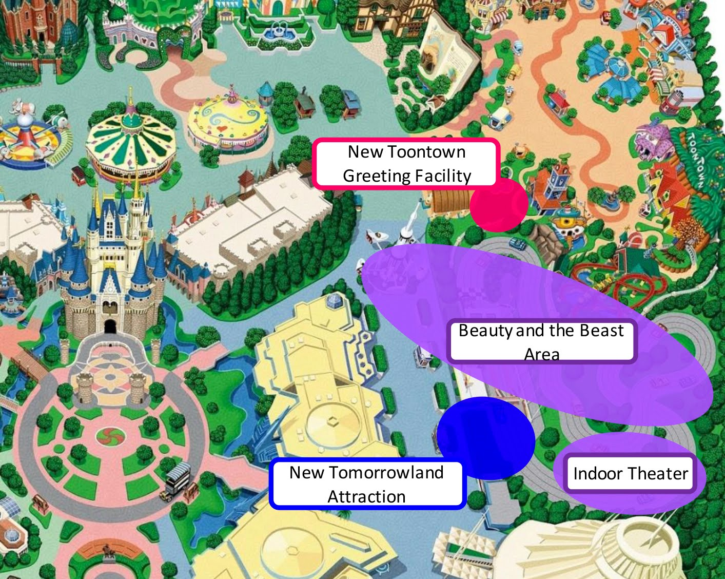 Breaking news major announcement of new attractions for tokyo this concept image is not an exact representation of the development area of the facilities disney sciox Gallery