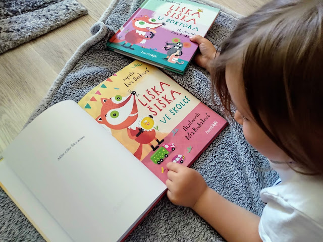 liska siska ve skolce, grada, detska kniha recenze