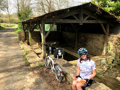 French Village Diaries Easter and new covid-19 restrictions in France cycling Deux-Sevres lavoir