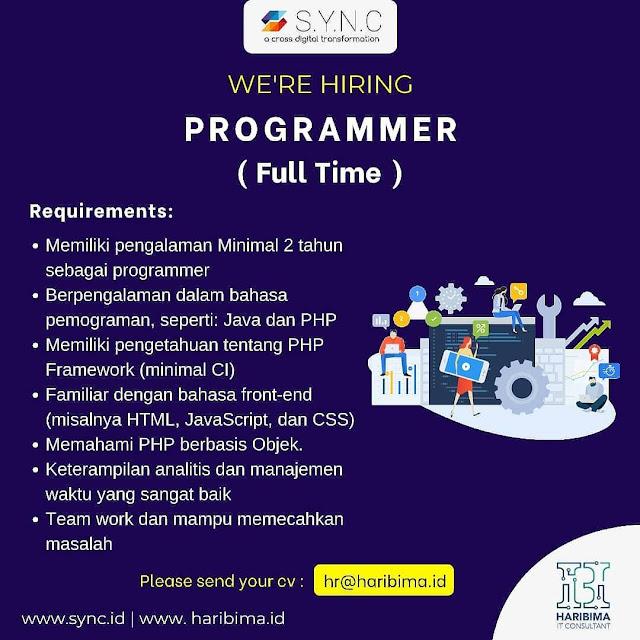 Lowongan Kerja Fulltime Programmer