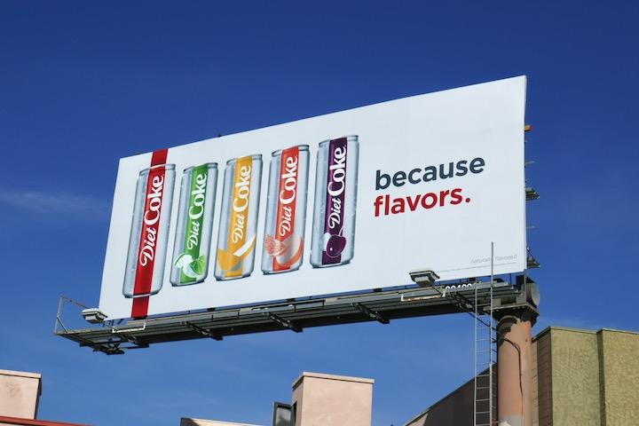 Diet Coke Flavors billboard