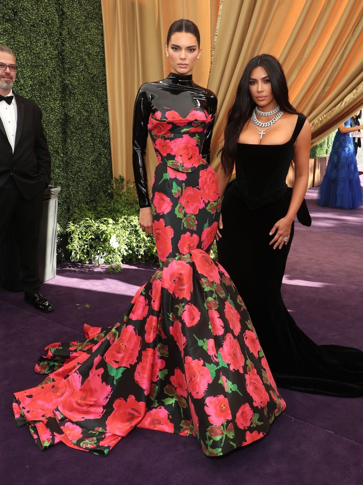 Kendall Jenner and Kim Kardashian at the 2019 Emmy Awards