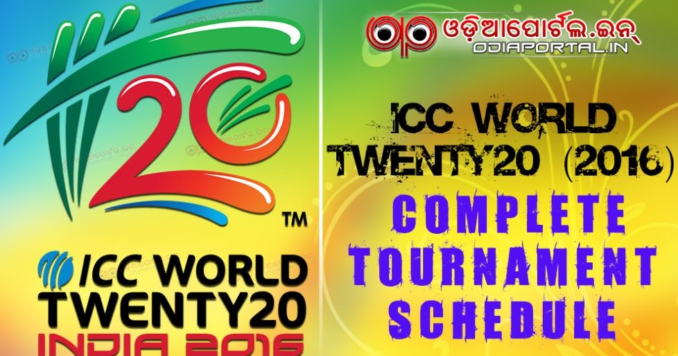 Cricket: ICC World Twenty20 (2016) - Complete Schedule / Time Table ...