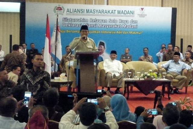 Prabowo Sebut Kekayaan Nasional Justru Dinikmati Negara Lain
