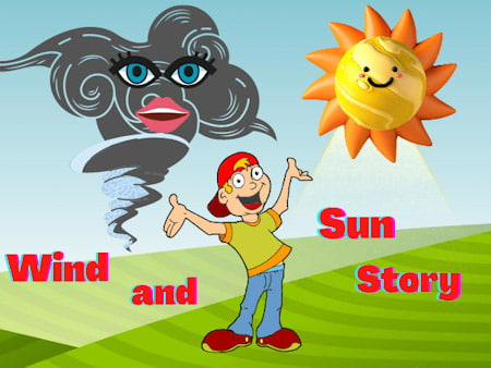 The Wind And The Sun Story ~ Moral Stories ~ Stories