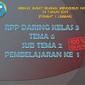 RPP Daring Kelas 3 Tema 6 Subtema 2 Pembelajaran ke 1 Revisi 2021