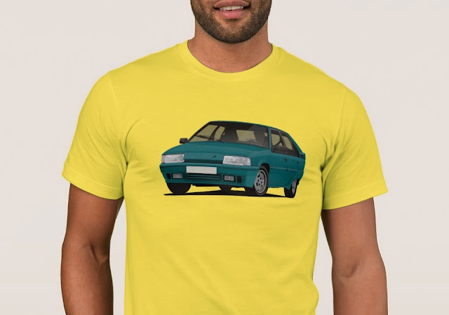 Citroen BX GTi in turquoise t-shirt