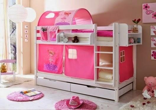Dormitorio color rosa para dos ni as dormitorios colores for Decoracion de cuarto para ninas gemelas