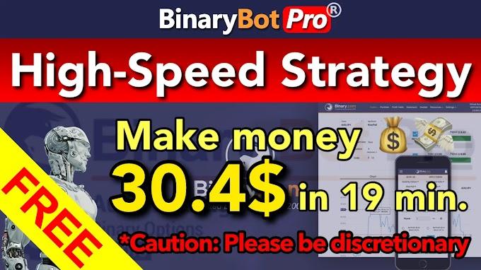 High-Speed Strategy | Binary Bot Pro