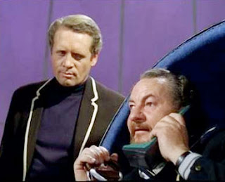 Patrick McGoohan and Leo McKern in The Prisoner (TV series; 1967-68)