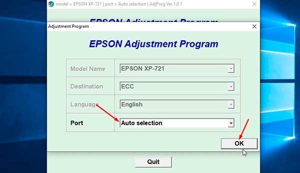 Resetear contador Epson XP-721
