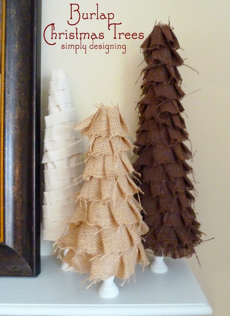 Burlap Christmas Tree Decor