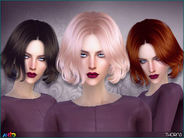 Женские короткие прически для The Sims 4 со ссылками на скачивание