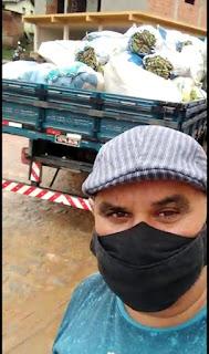 Vereador Tõ Justo comemora chegada de alimentos em Pilõezinhos