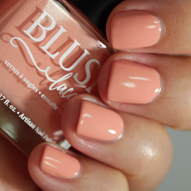 BLUSH Lacquers Peaches & Peonies swatch by Streets Ahead Style
